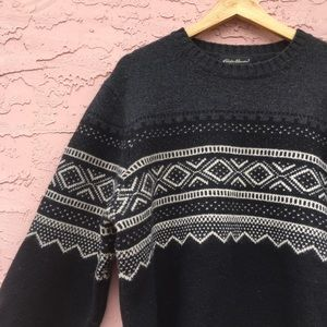 Eddie Bauer Lambswool Oversized Slouchy Sweater
